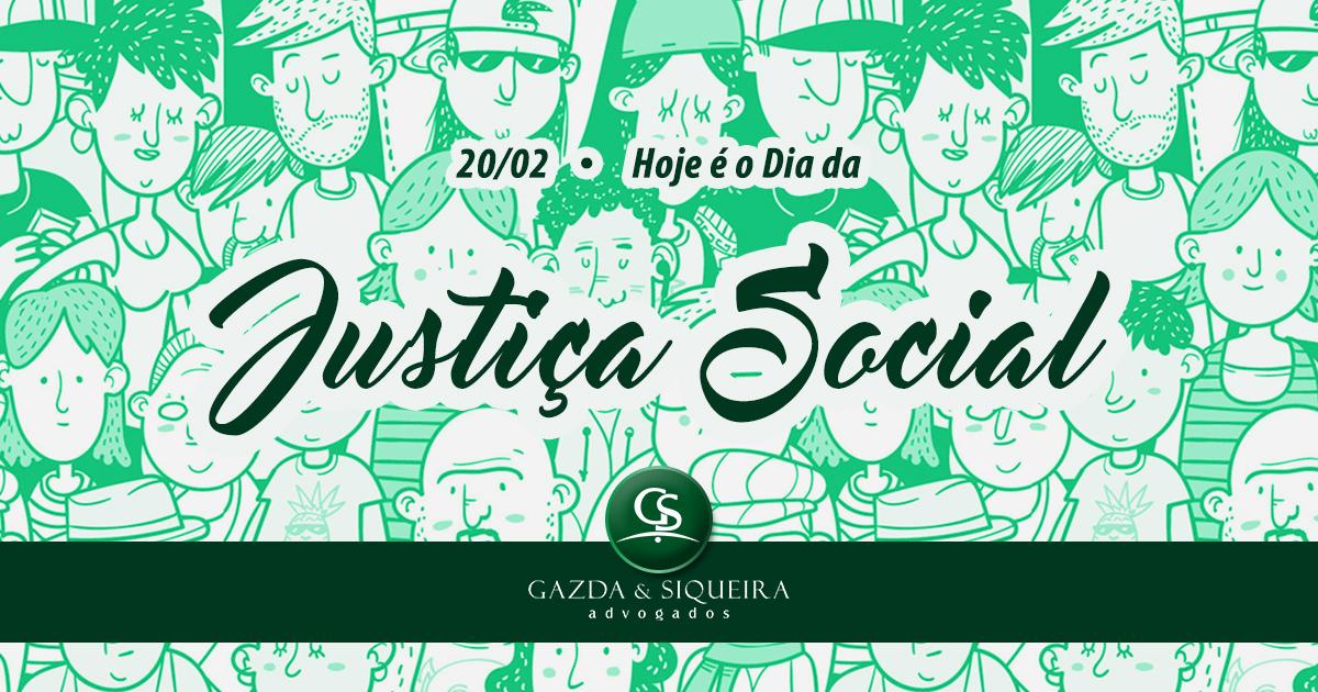 Dia Mundial da Justiça Social e celebrado hoje
